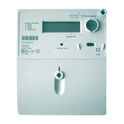 Imagem de contadores trifásicos Actaris ACE2000 e Actaris ACE3000