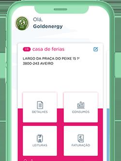 Preview Gestão de energia na app Goldenergy